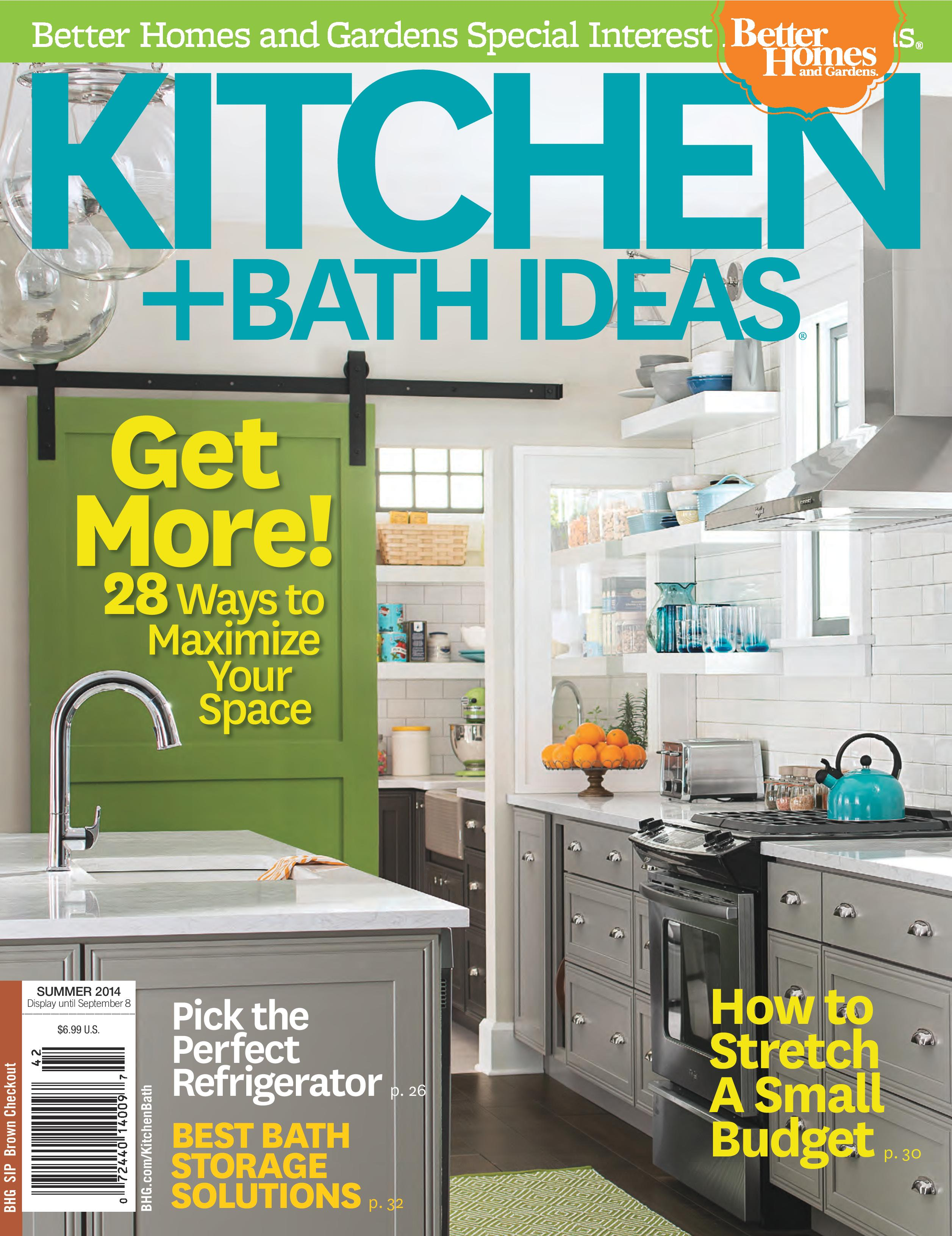 Kitchen bath ideas summer 2014 fiorella design for Kitchen ideas magazine