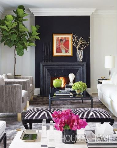 This Photo Is A Great Example Of A Just A Feature Wall Of Matte Black Used  To Create A High Contrast Focal Point In This Living Room. Part 91