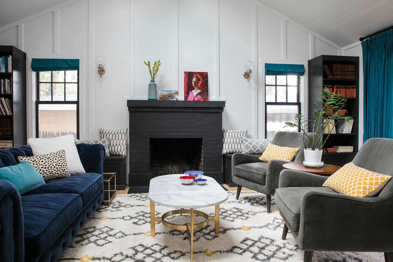 San Carlos Eclectic Living Room