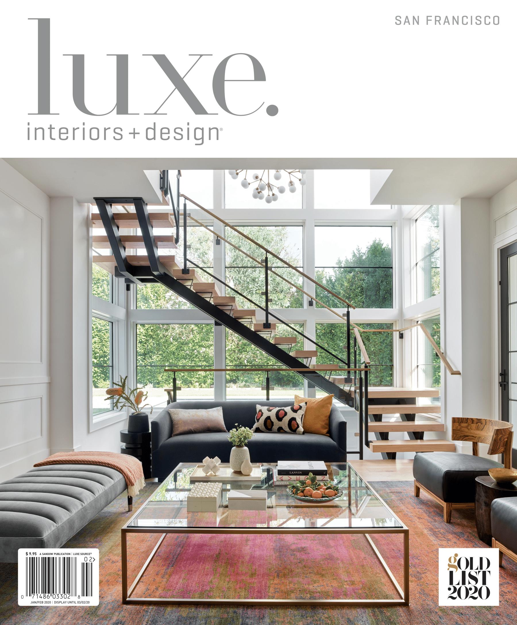 Luxe Interior Design Magazine Cover Fiorella Design